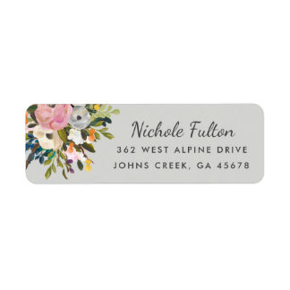 Botanical Bliss Custom Color Return Address Labels
