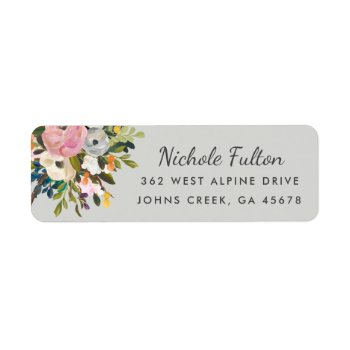 Botanical Bliss Custom Color Return Address Labels by Orabella at Zazzle