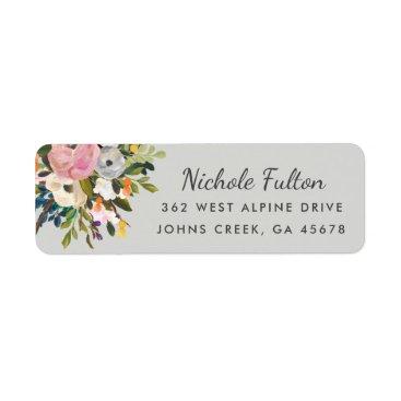 Orabella Botanical Bliss Custom Color Return Address Labels