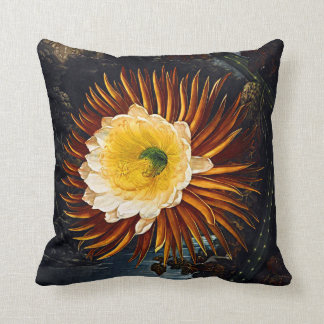Botanical Blooms Night Blowing Cereus Cushions Pillow
