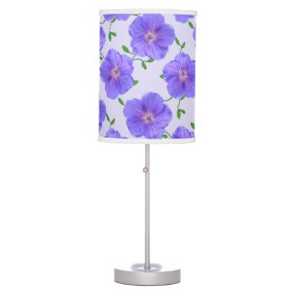 Botanical Blue Geranium Flower on any Color