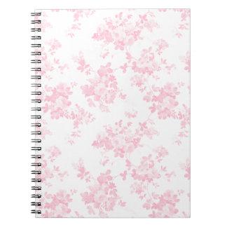 Botanical blush pink vintage elegant floral notebook
