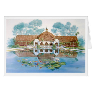 BOTANICAL BUILDING & LILY POND CARD