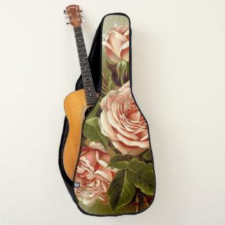 Botanical Cabbage Rose Flowers Floral Guitar Bag