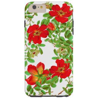 Botanical Cabbage Rose Flowers Floral Tough iPhone 6 Plus Case