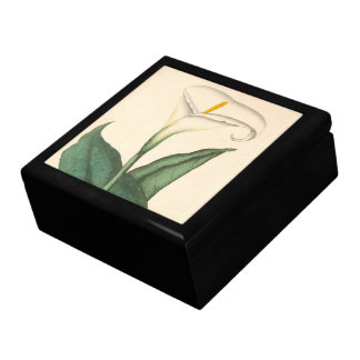 Botanical Calla Lily Flower Floral Gift Box
