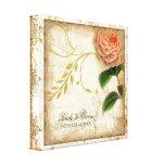 Botanical Camellia Customized Wedding Personalized Gallery Wrap Canvas