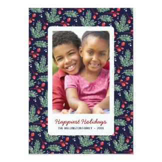 Botanical Christmas | Colorful Holiday Photo Card