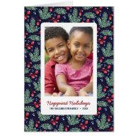Botanical Christmas | Folded Holiday Photo Greeting Card