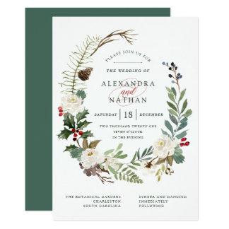 Botanical Christmas | Holiday Wedding Invitation