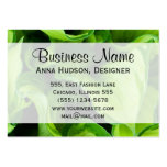 Botanical Close Up - Green Leaves (Leaf) Business Card Templates