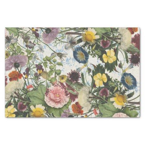 Botanical Collage Tissue Paper
