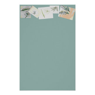 Botanical Collection Stationery - Cool Moss