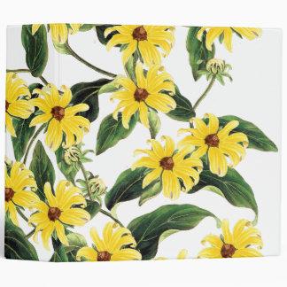 Botanical Coneflower Flowers Floral Avery Binder