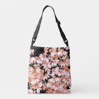 Botanical Coneflower Flowers Floral Garden Tote