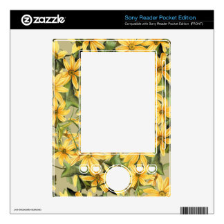 Botanical Daisy Floral Flowers Skin Decal For The Sony Reader