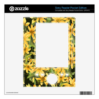 Botanical Daisy Floral Flowers Skin Skins For The Sony Reader