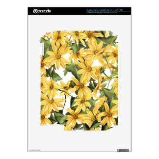 Botanical Daisy Floral Flowers Skin iPad 3 Decal