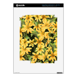 Botanical Daisy Floral Flowers Skin Skin For iPad 3