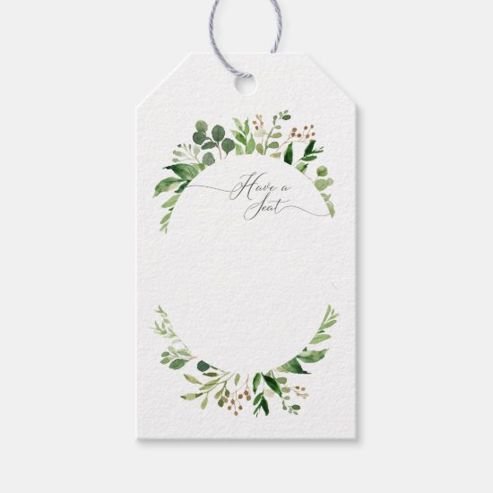 Botanical Dream Greenery Gift Tag Seating Cards