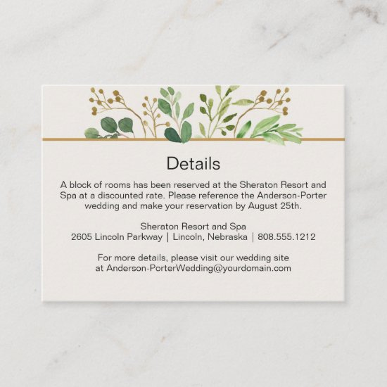 Botanical Dream Ivory Back Detail Enclosure Cards