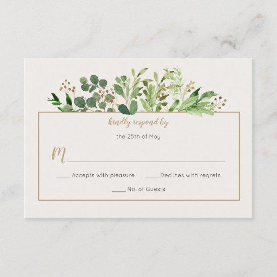 Botanical Dream Rustic Greenery Pale Ivory RSVP |