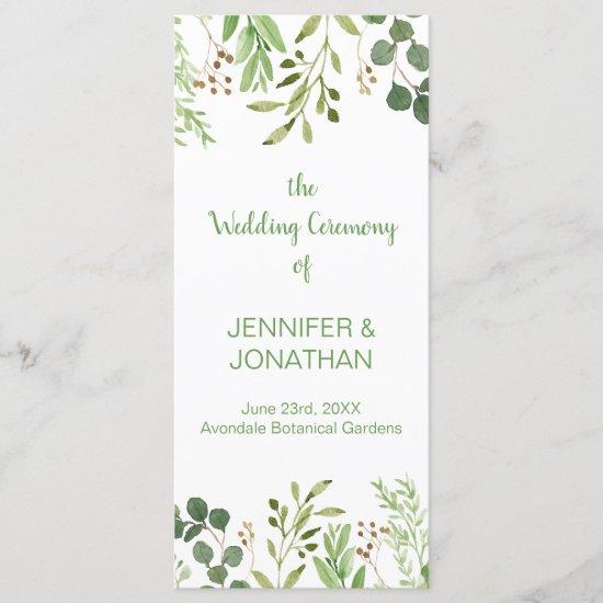 Botanical Dream Wedding Program