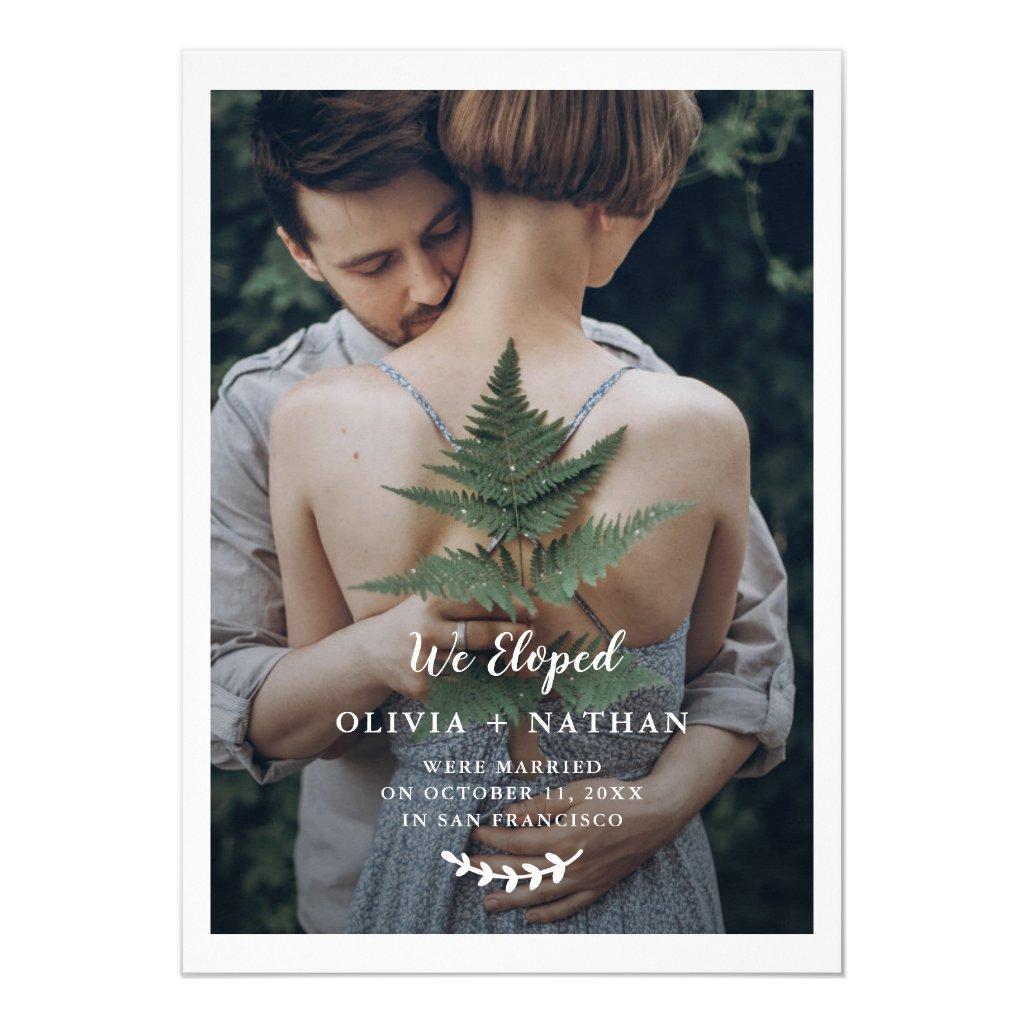Botanical Elegance   Photo Wedding Announcement