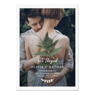 Botanical Elegance | Photo Wedding Announcement