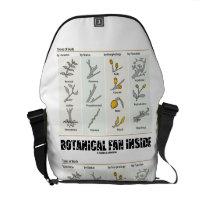 Botanical Fan Inside (Types Of Buds) Courier Bag