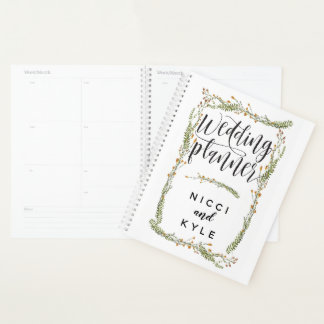 Botanical Floral and Greenery Wedding Planner