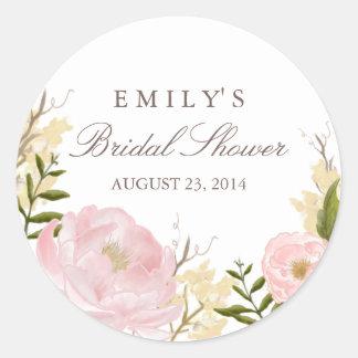 Botanical Floral Bridal Shower Sticker