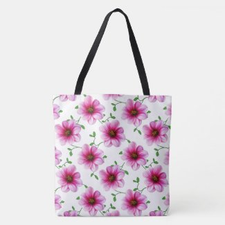 Botanical Floral Pink on any Color