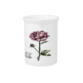 botanical floral  pitchers and pots