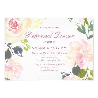 Botanical Floral Spring Rehearsal Dinner Invite