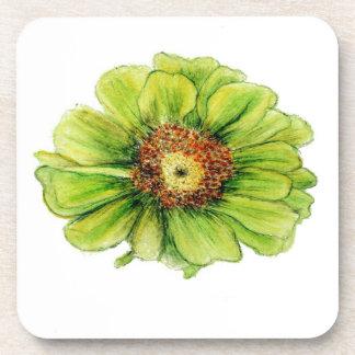 Botanical flower coasters