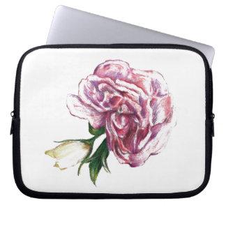Botanical flower design computer sleeves