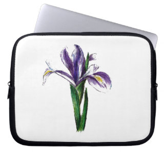Botanical flower design laptop computer sleeve