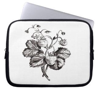 Botanical flower design computer sleeve