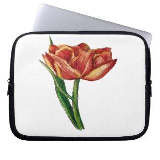 Botanical flower design laptop sleeves