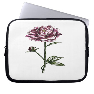 Botanical flower design laptop computer sleeves