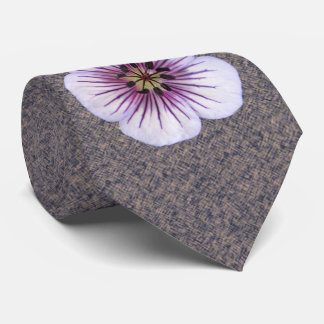 Botanical Flower Pale Blue Geranium Photo Neck Tie