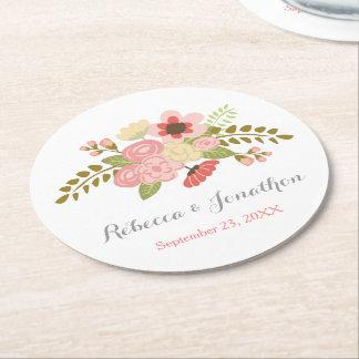 Botanical Flower Paper Coasters Round Paper Coaster