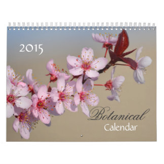 Botanical Flowers 2015 Calendar