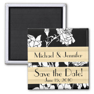 Botanical Flowers Floral Garden Save the Date Magnet