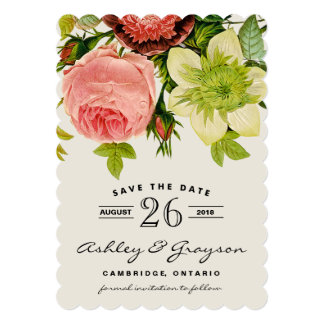 Botanical Flowers Save the Date Announcement II