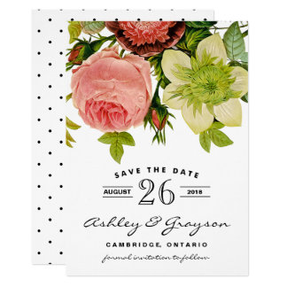 Botanical Flowers Save the Date Announcement III