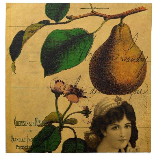 Botanical Fruit Cloth Napkin