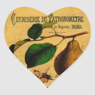 Botanical Fruit Heart Sticker