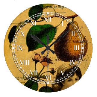Botanical Fruit Large Clock